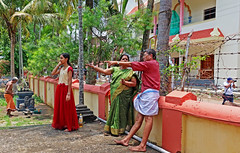 Over There - Cochin, India (TravelsWithDan) Tags: people candid outdoors city urban kerala cochin india photographer pointing trees park canong3x streetphotography