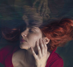 The Ocean of my mind (DianaRubi) Tags: mind fineartphotography womanphotography ocean water redhair conceptualphotography art woman thoughts