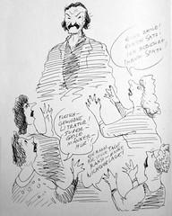 Christoph Ransmayr (Don Claudio, Vienna) Tags: christoph ransmayr manfred deix andré heller menschenkinder orf tv groopies poet schriftsteller literatur welt morbus cox