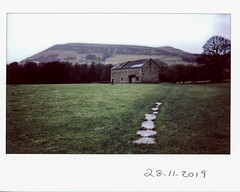 Thursday 28th November (ronet) Tags: fuji thursdaywalk barn edale field film fujiinstax500af instantfilm instax kinderscout peakdistrict scanned utata:project=tw710