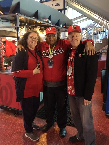 With William at Nats Park before World Series game 4 10/26/2019 ©  Michael Neubert