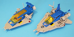 Space Cruiser 40th Anniversary Edition (markhchan) Tags: lego moc classic space spaceship starship ll924 cruiser 1979 40th anniversary comparison reimagined