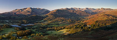 loughrigg panorama (paul.mcgreevy) Tags: panorama lake district sunrise winter mountains golden hour