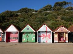 Christmas beach huts (auroradawn61) Tags: christmas christmassy bournemouth dorset uk england november 2019 lumixgx80 beachhuts