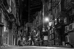 Lonely alley (Robycrux) Tags: white black planet happy high shape destinations asia art travel inspiration creative creativity photo viajes artistic singapore culture knowledge life jobs aasia lifes streetphotography capture time shot street vintage old style fashion lonely alley roads empty night daily moderno urbano massive around modern urban public places lines geometriy