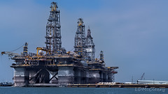 Oil Rigs in Port Aransas (LDMcCleary) Tags: