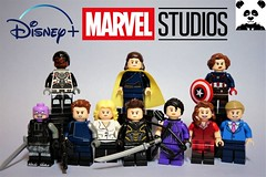 Disney+ Marvel Studios Characters (HaphazardPanda) Tags: lego figs fig figures figure minifigs minifig minifigures minifigure purist purists character characters comics comic book books story group super hero heroes superhero superheroes marvel avengers falcon the winter soldier loki peggy carter captain america what if baron zemo bucky sharon hawkeye ronin kate bishop scarlet witch wandavision vision
