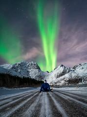 """Aurora Eruption"" (Perez Alonso Photography) Tags: northernlights aurora boreal borealis mountains snow ice norway lofoten greenlady night nightscape landscape beauty photography"