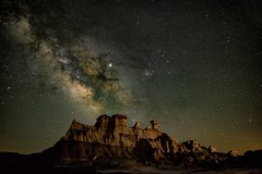 The Bisti (somewheredowntheroadphoto) Tags: milkyway night light stars shadows shadow mountain range sky cosmos astro