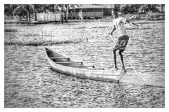 Bojo Beach boy! (Nina_Ali) Tags: canoe male blackandwhite peopleoftheworld candid water monochrome ghana africa