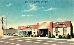 Cox Motor Co., DeSoto-Plymouth, Tulsa OK (aldenjewell) Tags: cox motor co desoto plymouth dealership showroom tulsa ok oklahoma postcard