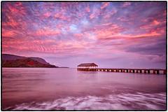 Sunrise, Hanalei Pier, Kauai. (peterrath) Tags: sunrise sunset travel water ocean pacific clouds sun sky peier pier kauai hawaii hanalei longexposure goldenhour bluehour hawaiilife kauailife