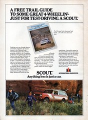 1979 International Harvester Scout 4WD USA Original Magazine Advertisement (Darren Marlow) Tags: 1 7 9 19 79 1979 i international h harvester s scout 4 w d 4wd wagon c carcool collectible collectors classic a automobile v vehicle u us usa united states american america 70s