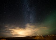 Aurora Borealis vs Milky Way (Eggens Pics) Tags: iceland milkyway aurora auroraborealis northernlights thingvellir night stars