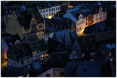 Rooftops and windows (Parchman Kid (Jerry)) Tags: rooftopsandwindows rooftops windows bacharach germany evening lights light sony a6500 parchmankid jerry burchfield landscape ilce6500 ambiance ambience mood ambient ambiant moody atmosphere