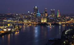 Pittsburgh at Dusk (dckellyphoto) Tags: pittsburgh pennsylvania 2019 night dark bluehour longexposure westendelliottoverlook canoneos6dmarkii pittsburghpa 85mm
