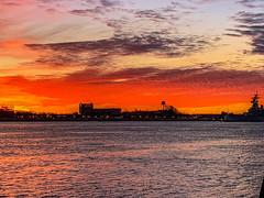 Penns Landing Sunrise (dweible1109) Tags: scenic landscape cellphonephoto iphone cloudscape clouds skyscape skyline sky magichour sunrise delawareriver pennsylvania philadelphia pennslanding