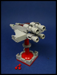 The Racing Sloop 'Vas Deferens' (Karf Oohlu) Tags: lego moc microscale microspacetipia spaceship scifi racingsloop