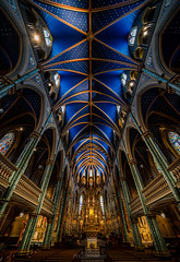 Notre-Dame Cathedral, Ottawa (Dan Fleury Photos) Tags: church ottawa ontario canada heritage ornate catholic cathedral notredame ceiling blue architecture interior building