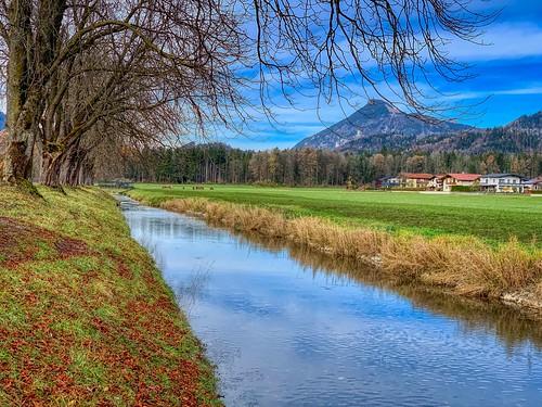 Ebbsbach in autumn near Ebbs, Tyrol, Austria