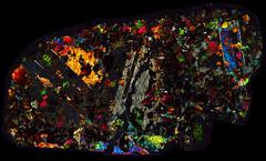 NWA 1950 Meteorite Thin Section - XPL HDR (solaranamnesis.com) Tags: meteorite mars martian pathscanenabler thinsection nwa1950 achondrite solarsystem