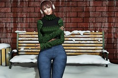 Dawn of December (SL Freebie Addiction) Tags: sl secondlife slfashion navycopper lookatme petitchat anlárposes egozyparis egozy maitreya genusproject euphoric tone2 backdropcove