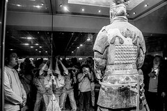 Back to Front (kiwi photo lover) Tags: china terracottawarriors history emperor qin dynasty clay pottery sculptures army afterlife potters ancient crowded amazed awe respect bw shaanxi xian