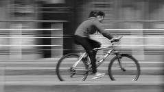 "Motion blur - ""Smile on Saturday"" (patrick_milan) Tags: girl cycle velo motion smileonsaturday motionblur"