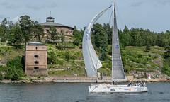 KSSS ÅF Offshore Race (Gotland Runt) 2016, Oxdjupet (Gösta Knochenhauer) Tags: 2016 july panasonic lumix fz1000 dmcfz1000 vaxholm rindö stockholm sverige sweden schweden svezia suecia suède boat sailboat sailing archipelago skärgård ksss åf offshore race nik ksssåfoffshorerace gotlandrunt oxdjupet p9050952nik p9050952 leica lens
