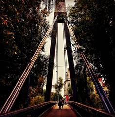 Walking on the bridge 💕 (My colourful world️) Tags: oradea city transylvania romania bridge afternoon lights autumn colours people