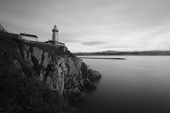 Faro de San Juan, Asturias (Nacho_71*) Tags: larga exposicion blanco y negro monocromo paisaje faro san juan aviles asturias mar cantabrico