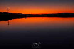 Orange Reflections (Andrew Teece) Tags: reflections reservoir ringstoneedge westyorkshire sunset rishworth pennines