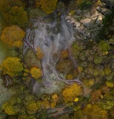 Black Rock Top Down - Explored (Photo Lab by Ross Farnham) Tags: topdown pano abstract landscape colour rossfarnham dji mavicpro2 matlock england unitedkingdom