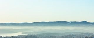 Winter mist on Oslo Fjord