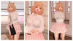 Pink Lemonade - Sweet Seifuku Outfit (Eliih1994 Resident) Tags: cute kawaii moe pinklemonade sanarae event uniform sweet seifuku school girl