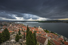 Under the clouds (Sizun Eye) Tags: sibenik cloudscape clouds view adriatic sea cathedral oldtown mood sizuneye sonyfe1635mmf28gm sony7rm2 sony