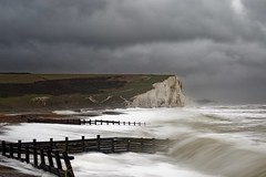 Rider to the sea (pauldunn52) Tags: sussex cuckmere haven seven sisters storm wave cliffs