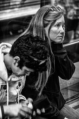 I'm so tired (Chris (a.k.a. MoiVous)) Tags: streetphotography commuters citywestprecinct adelaidecbd streetlife