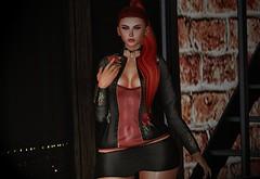 ♚ #823 ♚ (Caity Saint) Tags: nyne gaeg zk zarakento head bento hair redhead shinyshabby event sl secondlife pixels avatar outfit backdrop maitreya doll 3d