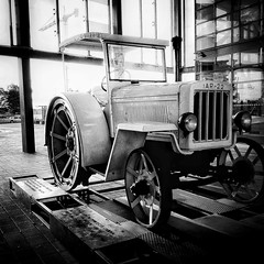 The first tractor built in Romania 🚜💕 (B&W addicted) Tags: iar brașov city tractor coressi exhibition phonepic old white blackwhite photo