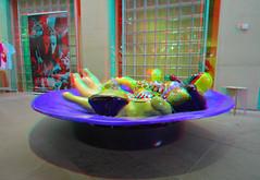 La fontaine aux quatre nanas Sculpture by Niki de Saint Phalle 3D (wim hoppenbrouwers) Tags: lafontaineauxquatrenanas sculpture nikidesaintphalle 3d anaglyph stereo redcyan beeldenaanzee