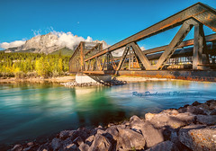 River Crossing (rayduckworth) Tags: landscape canada canmore river bridge mountain sky cloud trees rocks