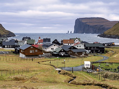 Tjørnuvík, Faroe Islands (wal50wol) Tags: felsen küste gestein dorf meer europa faroeislands