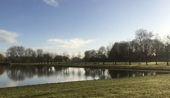 Just a calm saturdaymorning in the park (Petraa_) Tags: park blue sky lake water netherlands clouds rotterdam saturday calm 010 prinsenpark reflection