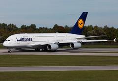 D-AIME Lufthansa A380 (twomphotos) Tags: plane spotting eddm muc rwy26r lufthansa airbus a380