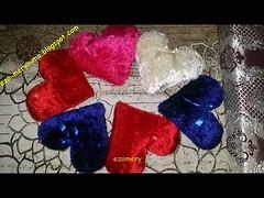 طريقة خياطة وسائد القلوب بقماش الكانيش مثل التي تباع في المحلات (ezo-handmade) Tags: اشغال يدوية افكار الطرز و الخياطة خياطة وسائد