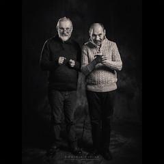 Serge & Alain Delaunay (dominikfoto) Tags: sergedelaunay alaindelaunay artist fusina fusinadominik gfx50r fujifilm fuji portrait portraitiste portraiture rawart artbrut drawer painter blackandwhite bw