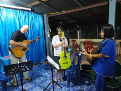 Guitar practice with youth 2019-11-29 3 (SierraSunrise) Tags: thailand phonphisai nongkhai isaan esarn ministry church guitar teaching music