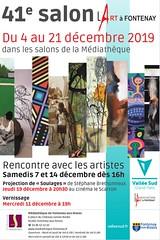 Affiche Salon (Serge Barès) Tags: 41èmesalonlartàfontenay sergebarès mediathèquedefontenayauxroses fontenayauxroses fujixpro1 exposition