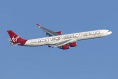 G-VNAP_AirbusA340-600_VirginAtlanticSS_LHR [Explored] (Tony Osborne - Rotorfocus) Tags: london heathrow lhr 2019 airbus a340 a340600 virgin atlantic airways special scheme